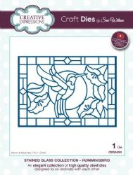 CED24001 - Creative Expressions Dies by Sue Wilson - Stained Glass Collection - Hummingbird Die